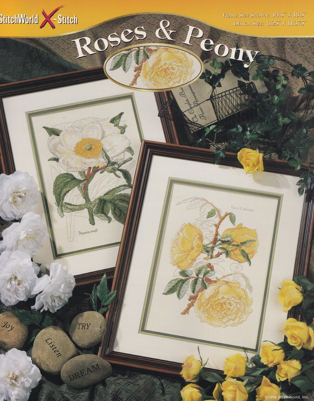 Primary image for Roses & Peony, StitchWorld Floral Cross Stitch Pattern Booklet 03-213
