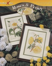 Roses & Peony, StitchWorld Floral Cross Stitch Pattern Booklet 03-213 - $3.95