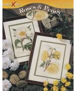 Roses & Peony, StitchWorld Floral Cross Stitch Pattern Booklet 03-213 - $3.95