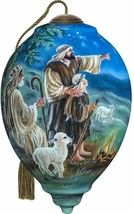 "Shepherds Afield Nativity Ornament Ne'Qwa Art Glass New Christmas 5.5"" N... - $50.48"