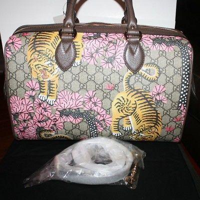 b2cc663c03c Nwt Gucci Bengal Tiger Gg Boston Bag Handbag and 7 similar items