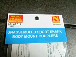 Micro-Trains Stock # 00102014 (1027) Unassembled Short Shank Body Mount Coupler  image 2