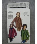 Misses 16-22 Loose fitting Jacket  Collar & Front variations Vogue V812... - $12.00