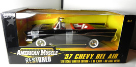 Ertl 1:18 1957 Chevy Bel Air 57 Chevrolet Restored ltd ed 2499 diecast m... - $29.99