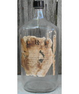 Giant Duraglas Cough Syrup Apothecary Medicine Bottle fr Old Pharmacy Ha... - $45.00