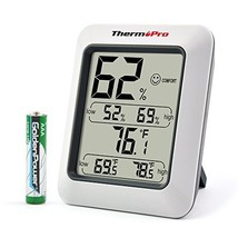 Wireless Temperature and Humidity Monitor Temp Monitoring System Baby Ro... - $12.23