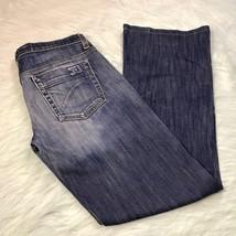 Joe's Jeans Size 27 Women's Dark Wash Flare Jeans Cotton Blend Distressed - $20.82