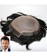 Silk Mono Top PU Sides and Back Lace Front Quality Mens Hair Systems - $113.30