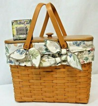 "Longaberger 1998 Large 15"" Basket Swing Handles, Liner, Handle Tie and More - $54.45"