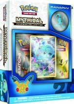 Manaphy Mythical Collection Pin Box POKEMON TCG Generations Pack 20 Anni... - $24.99