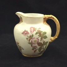 Royal Worcester Art Nouveau Blush Ivory 22K Gilded Pitcher Jug c 1890 - $49.97