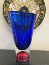 Kosta Boda Signed Goran Warff #70400577 Zoom Art Glass Vase - $246.51