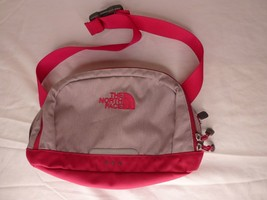 The North Face Roo Waist Hip Fanny Pack -- Adjustable -- Gray & Magenta - $33.03