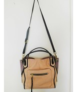 "Purse Bag orYANY Leather Medium RUBY Satchel Camel & Black 11"" x 11"" x 5... - $97.49"