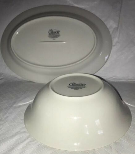 Gibson China Poinsettia Serving Platter Oval Tray Vegetable Bowl Holiday Decor image 9