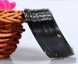 AA3: 2PCS BLACK Rolls Striping Tape Line Nail Tips Sticker DIY w/Free Gift - $1.89
