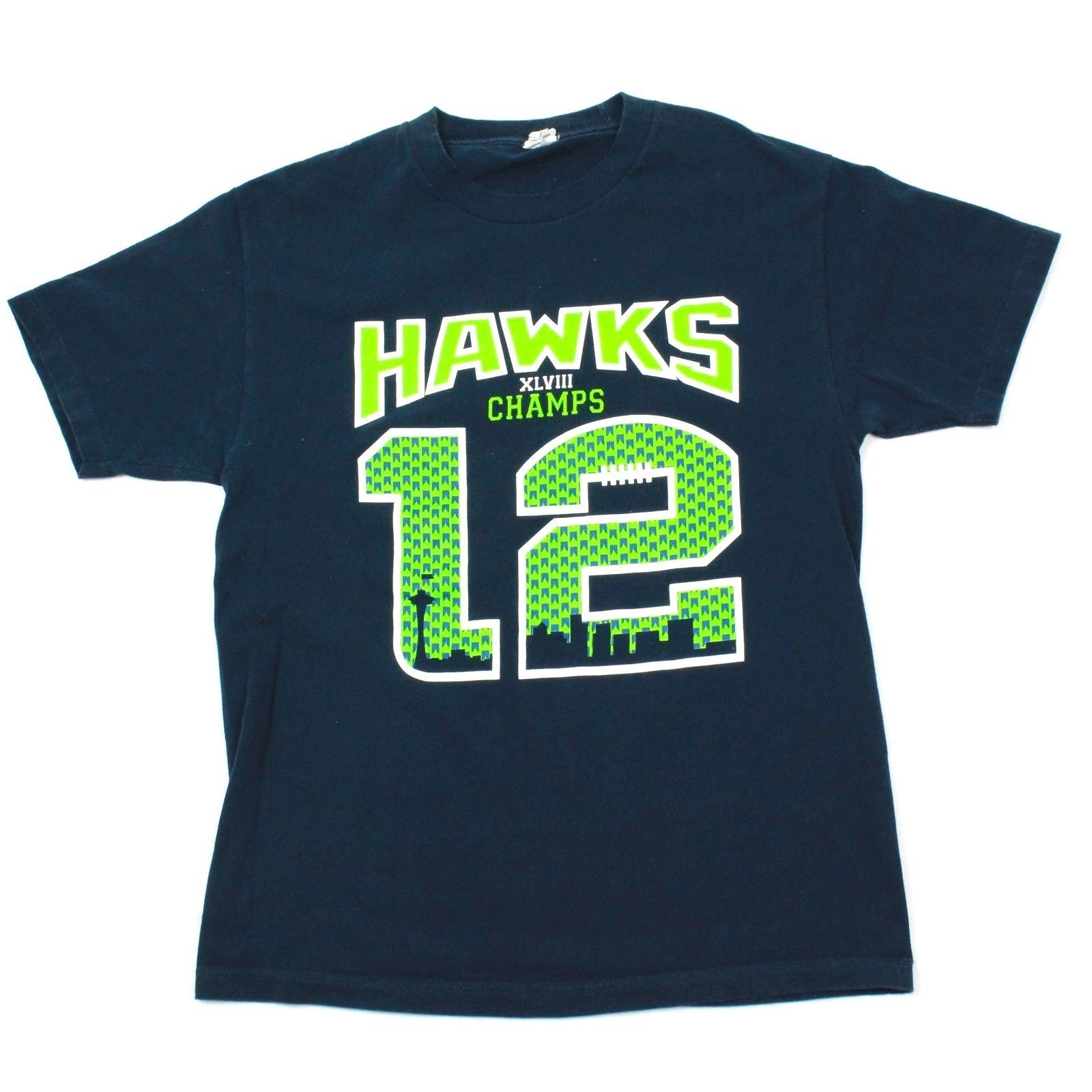 Seattle Seahawks Tshirt Retired ADKINS Number 12 retired Number The 12s Football