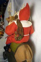 Bethany Lowe Vintage Santa Riding Reindeer image 5