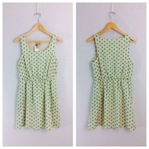 Mimi Chica Size M Cream and Green Polka Dot A-L... - $13.42