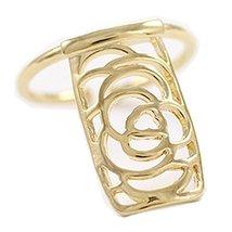 2Pcs Hollow Flower Fingernail Ring Nail Art Charm Cap Cover for Women Girls, Gol