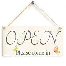 Meijiafei Shop,Restaurant,Cafe Open-Closed Double Sided Wooden Sign - $14.84