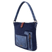 Montana West Buckle Collection Concealed Carry Bag Blue Brown image 2