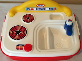 Little Tikes Splish Splash Kids Play Sink Stove Kitchen Storage Carry Ha... - $14.99