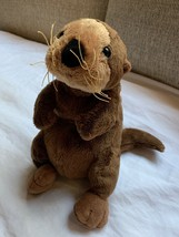 "Ganz WebKinz Sea Otter Plush Toy Brown Tan 8"" Tall Bean Bag used nice Co... - $16.82"