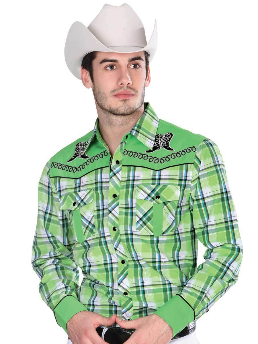 Primary image for Western Shirt L/Sleeve (Spcls) El General 55% Cotton 45% Polyester ID 33947 CA3