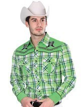 Western Shirt L/Sleeve (Spcls) El General 55% Cotton 45% Polyester ID 33... - £25.00 GBP