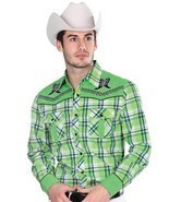 Western Shirt L/Sleeve (Spcls) El General 55% Cotton 45% Polyester ID 33... - $616,39 MXN