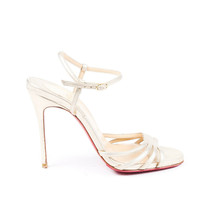 Christian Louboutin Gold Leather Strappy Sandals SZ 36 - $305.00