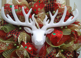xmas wreaths, winter wreaths, christmas wreaths, reindeer wreaths, xmas ... - $99.00