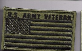 ARMY VETERAN OD FLAG 2 X 3  EMBROIDERED PATCH WITH HOOK LOOP - $23.74