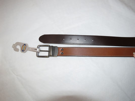 Fossil leather belt Men's MB100720142 Fitz Reversible Dark Brown size 42... - $35.38