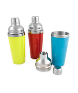 Cocktail Shakers, Three-piece Strainer Jigger Cap Stainless Steel Cockta... - $32.29
