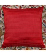 "Red 16 "" Striped Dupioni Silk Brocade Pillow Cushion Cover Sofa Throw Ho... - $7.91"