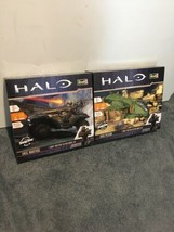 Revell SnapTite HALO Model Kits UNSC Warthog and USNC Pelican W/Lights a... - $54.45