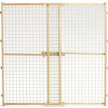 Midwest Homes For Pets Natural Wood/wire Mesh Pet Gate 44h X 29-50w 0277... - $82.32