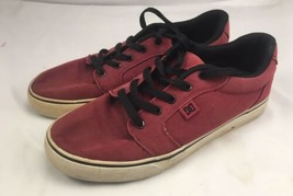 Red DC Skater Sneakers Size 8  - $24.74