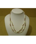 Designer Fashion Necklace 15in L Strand/String Faux Pearl Female Adult W... - $9.59