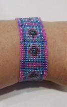 handmade southwest diamond pattern beaded bracelet - $193,90 MXN
