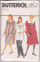Maternity Dress Tunic Pants Misses' 8 10 12 Vintage Butterick Pattern 47... - $12.00