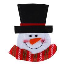 (mix color)Snowman Santa Claus Elk Holders Pockets Tableware Holder Knif... - $14.00