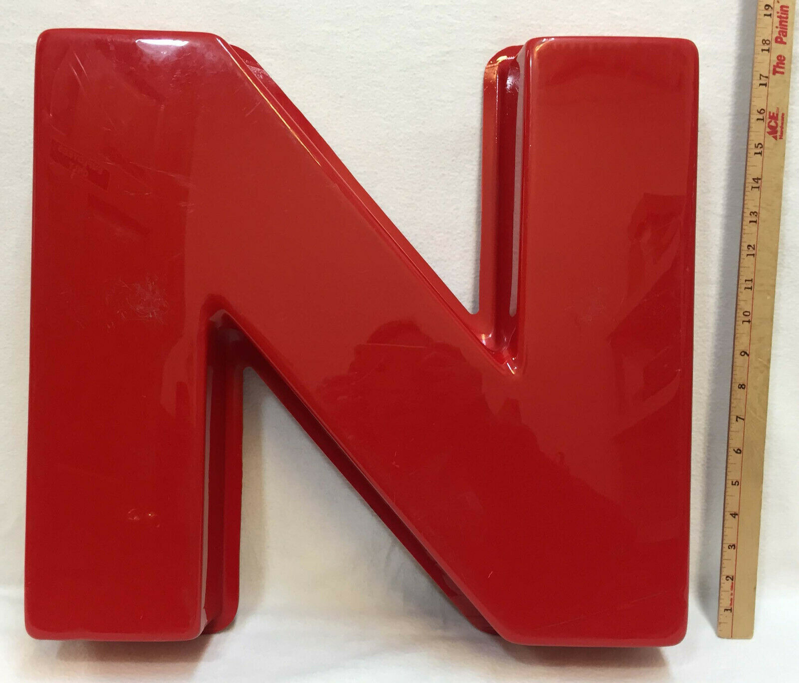 "Primary image for Outdoor Red Letters for Business Signs N & O 19.5"" Raised or Rounded"