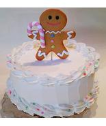 """Dezicakes Large Pastel Gingerbread Man Fake Cake Display 9"""" Faux Cake- W... - €30,96 EUR"""