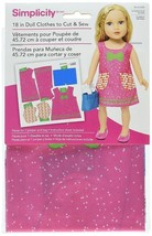502800001 Simplicity in Doll Clothes to Cut & Sew Including Bags, Guide ... - $10.07