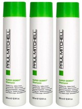 3x Paul Mitchell SUPER SKINNY Shampoo Smooths Frizz Softens Texture 10.14oz Each - $23.99