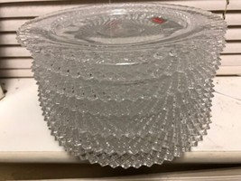 "Avon 1978 Anniversary Crystal Fostoria Plates 8"" Lot of 7 - $36.77"