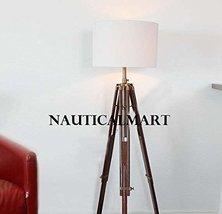 NAUTICAL MARINE TRIPOD FLOOR LAMP WITH WHITE SHADE BY NAUTICALMART - $177.21